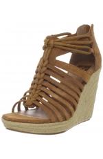 DV by Dolce Vita Shoes Tatiana Wedge Sandal Cognac