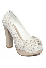 American Rag Keeper Peep Toe Pump Cream
