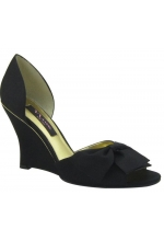 Nina Shoes Eterna D'Orsay Wedge Black