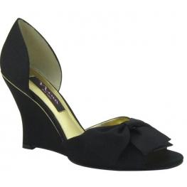 Nina Shoes Eterna D'Orsay Wedge Black