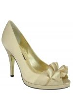 Nina Shoes Evelixa Open-Toe Pump Cream