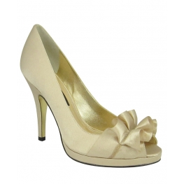 Nina Shoes Evelixa Open-Toe Pump Cream