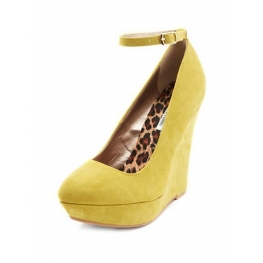 Removable Ankle Strap Wedge