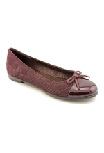 Aerosoles Women's Bectify Dark Red Suede Flat