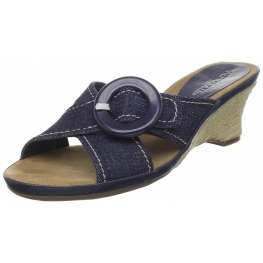 Aerosoles Women's Citizen Wedge Denim Sandal