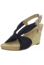 Aerosoles Women's Plush Pillow Black Sandal
