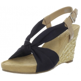 Aerosoles Women's Plush Pillow Black Sandal