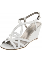 Bandolino Women's Rodger Wedge Sandal White