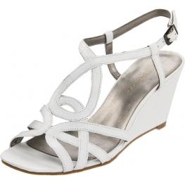 Bandolino Women's Rodger Wedge Sandal White