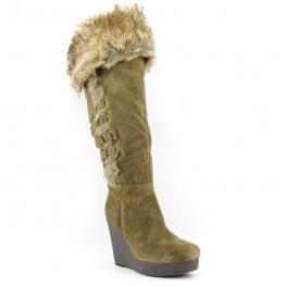 Nine West Women's Estrada Boot Dark Green