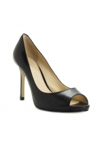Enzo Angiolini Shoes Maiven Peep Toe Pumps Black