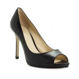 Enzo Angiolini Shoes Maiven Peep Toe Pumps Black