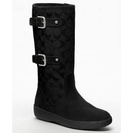 Coach Tinah Black Suede Boot