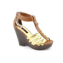 Material Girl Shoes Tyler Wedge Sandal