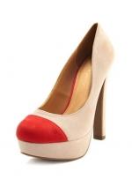 Thick Heel Color Block Pump