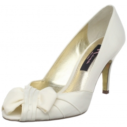 Nina Shoes Forbes Open-Toe Pump Ivory Luster