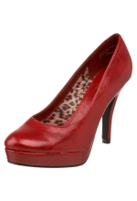 Unlisted Shoes File System Platform Pumps Red