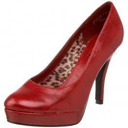 Unlisted Shoes File System Platform Pumps Red