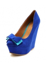 Triple Bow Pointy-toe Wedge