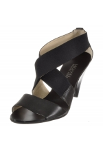 Michael Kors Shoes Odette Elastic Cross Strap Sandal Black