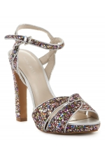Nine West Hotlist Platform Pink Glitter Sandals