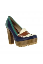 Mia Shoes Kayte Platforms Loafers Blue Multi