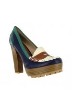 Mia Shoes Kayte Platforms Loafers Blue Multi