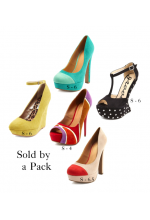Pack of five pair of fashionable womens shoes