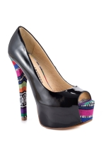 Chinese Laundry Triple Major Peep-toe Pumps (Tribal Print)