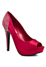 Steve Madden Playy R Red Satin Pump