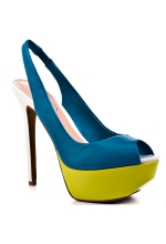 Jessica Simpson Shoes Halie Platform Pumps (Multi Aqua)