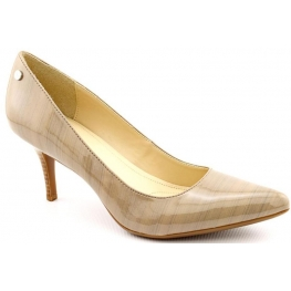 Calvin Klein Ashley Patent Dress Pumps (Taupe)
