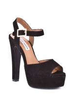 Steve Madden Dynemite Suede Ankle Strap Platform Sandal