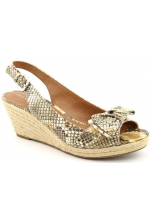 Franco Sarto Women's Camino Wedge Sandals Snake Print