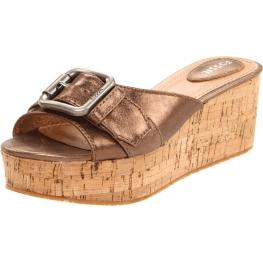 Fossil Shoes Malea Wedge Slide Metallic Leather