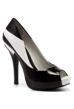 BCBGeneration Women's Liberty Peep Toe Pump Black and White