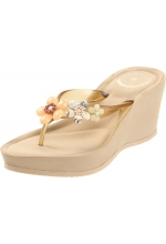 BCBGeneration Women's Stephie Wedge Sandal Natural