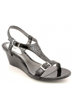 Alfani Shoes Junior Open Toe Wedge Sandals Black