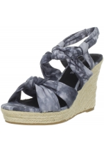 Rampage Women's Brixton Wedge Sandal Black Dye
