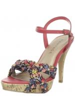 Rampage Women's Garrick Platform Sandal Coral