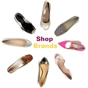 Know brands for women shoes. Guess, Betsey Johnson, BCBGeneration, Cole Haan, Chinese Laundry, Calvin Klein